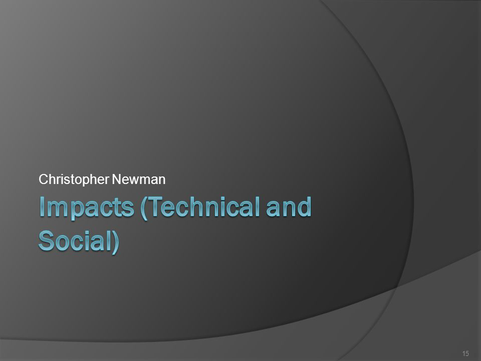 Christopher Newman 15