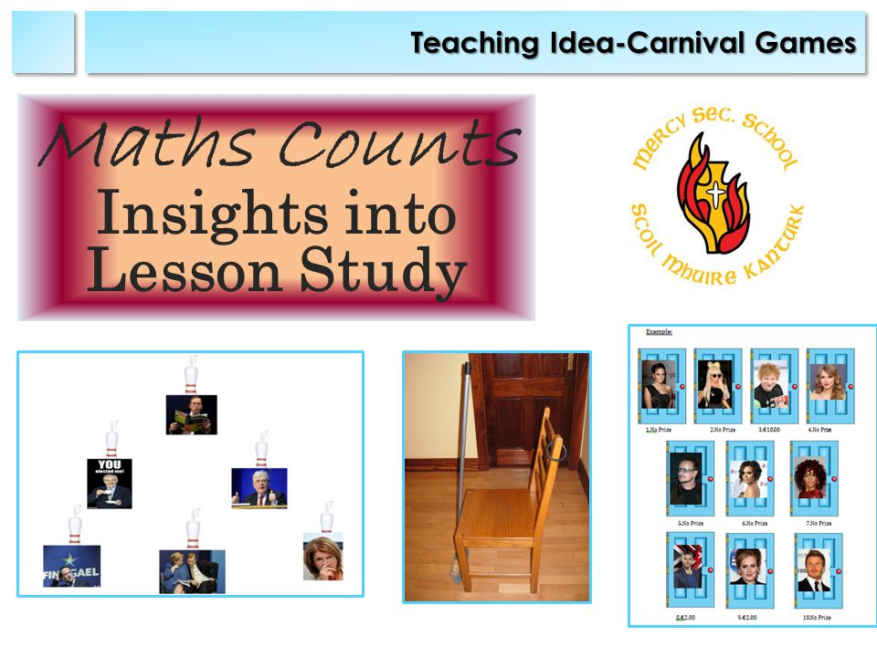 Teaching Idea-Carnival Games Maths Counts Insights into Lesson Study