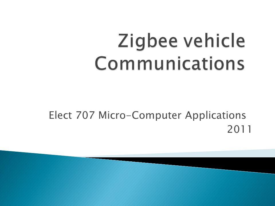 Elect 707 Micro-Computer Applications 2011