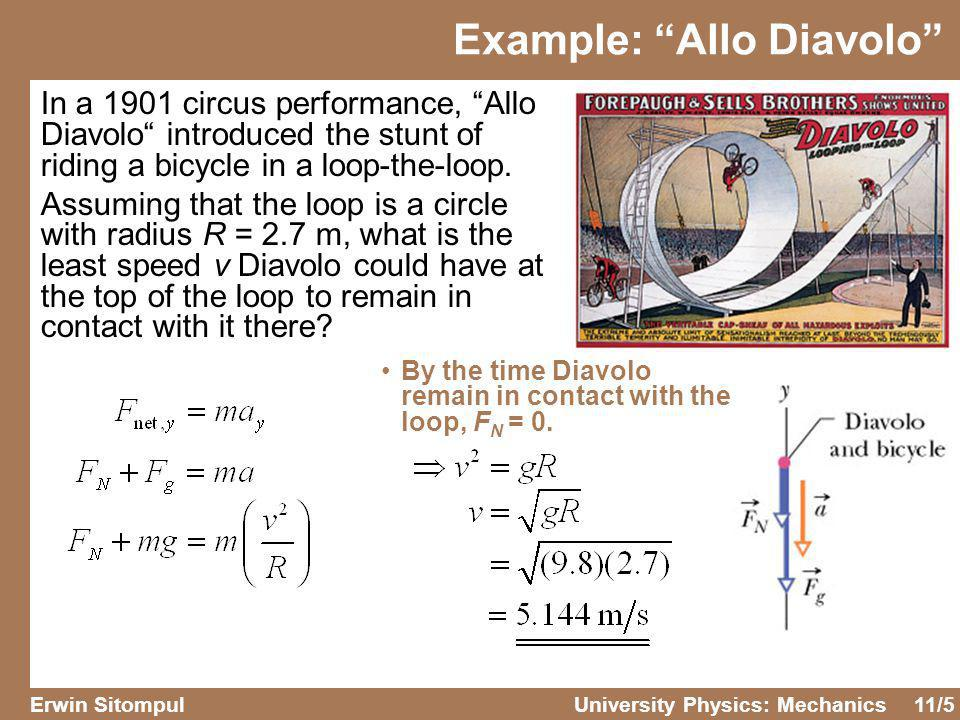 11/6 Erwin SitompulUniversity Physics: Mechanics Example: Riding the Rotor A Rotor is a large, hollow cylinder that is rotated rapidly around its central axis.