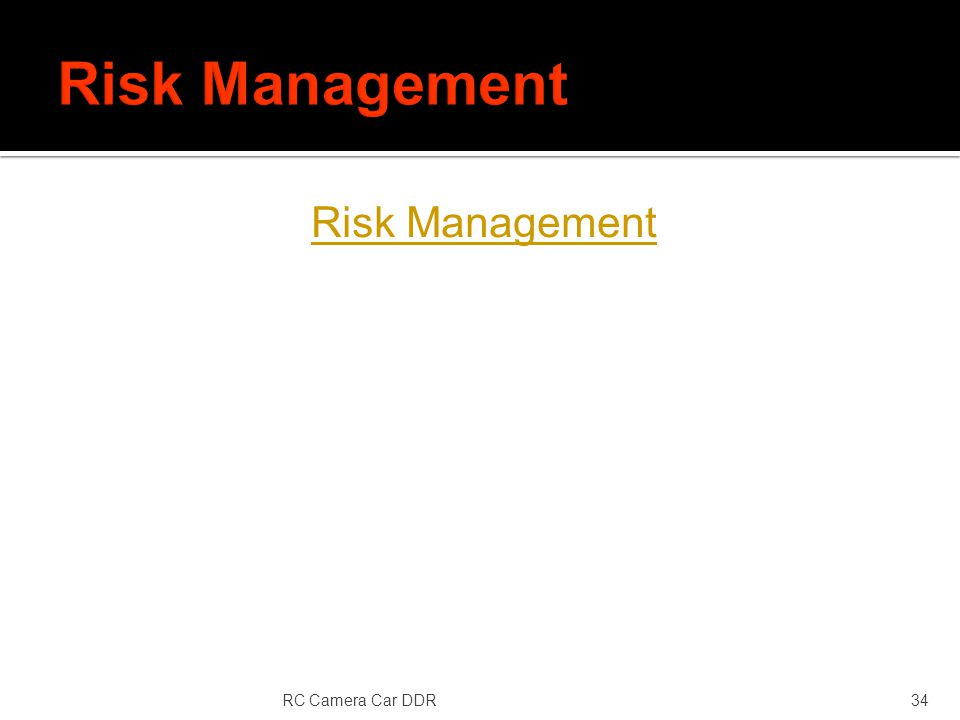 Risk Management RC Camera Car DDR34
