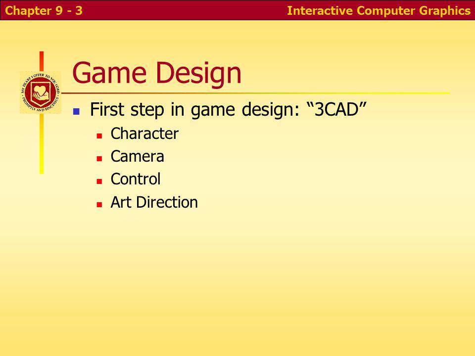 Interactive Computer GraphicsChapter 10 - 2 WebGL Game: Road Race! Environment Car model, smoke Animation Sounds Collision detection Keyboard input HU
