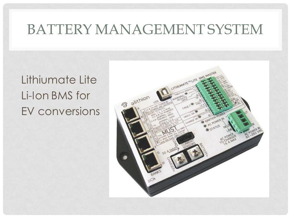 BATTERY MANAGEMENT SYSTEM Lithiumate Lite Li-Ion BMS for EV conversions
