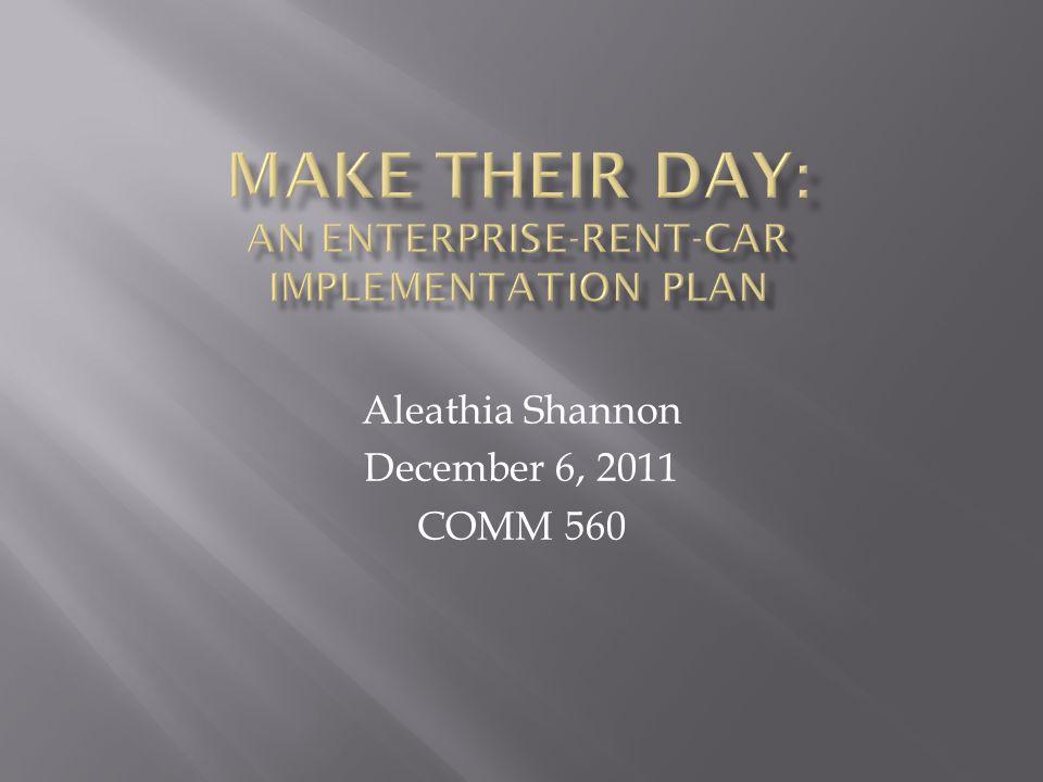 Aleathia Shannon December 6, 2011 COMM 560