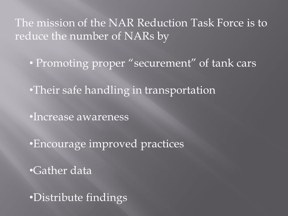 Between 2003 and 2005 the data team collected research from NARs in the ethanol industry.