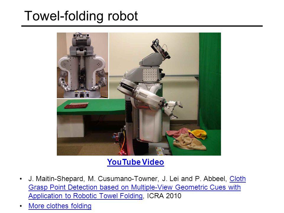 Towel-folding robot J. Maitin-Shepard, M. Cusumano-Towner, J.
