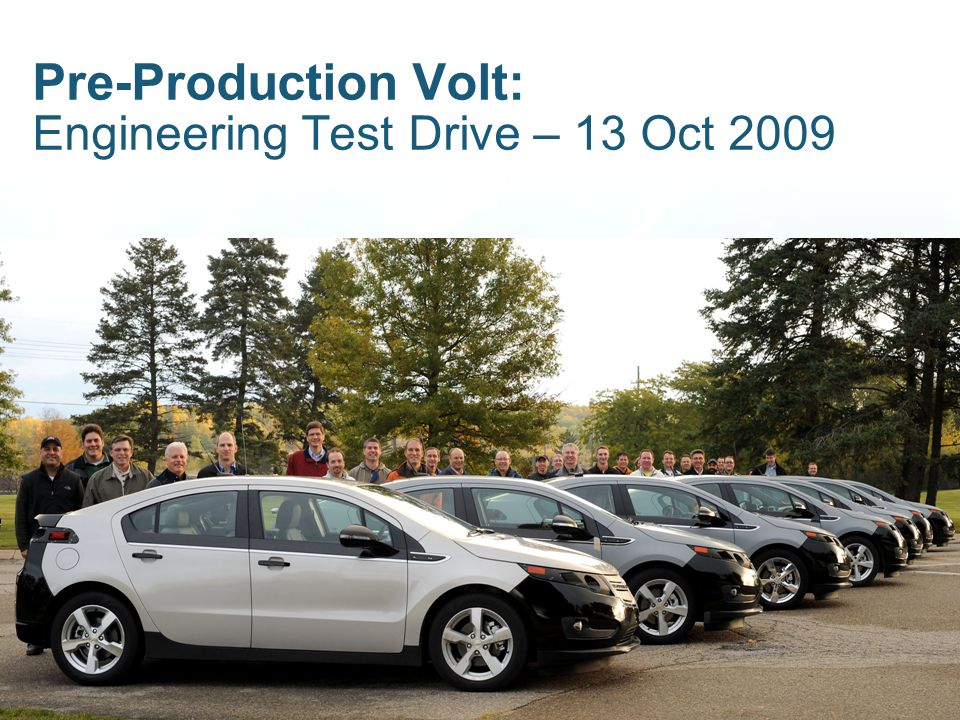 Pre-Production Volt: Engineering Test Drive – 13 Oct 2009