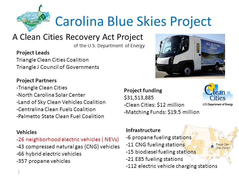 2 Carolina Blue Skies Project A Clean Cities Recovery Act Project of the U.S.