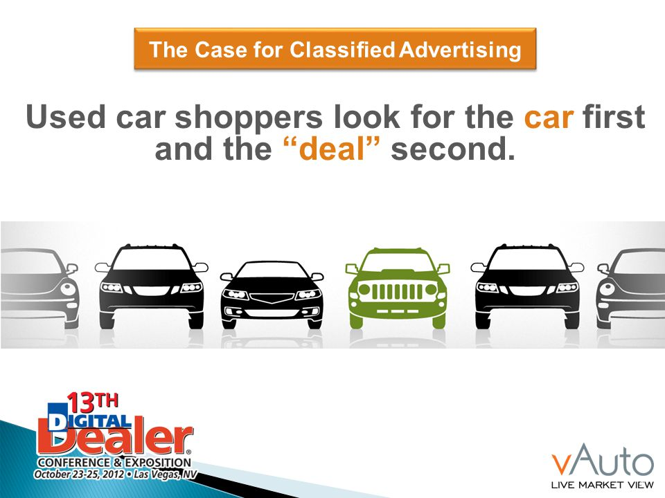 4 and the deal second. The Case for Classified Advertising