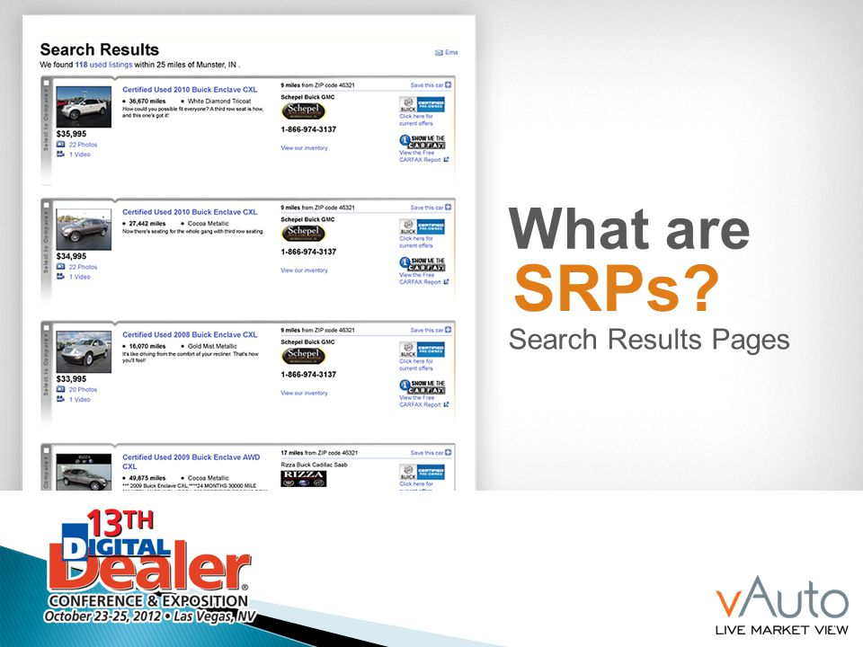 7 What are SRPs? Search Results Pages