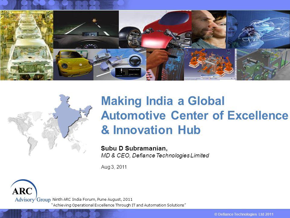 © Defiance Technologies Ltd 2011 Global Automotive Industry Trends # 2 Source : J.D.