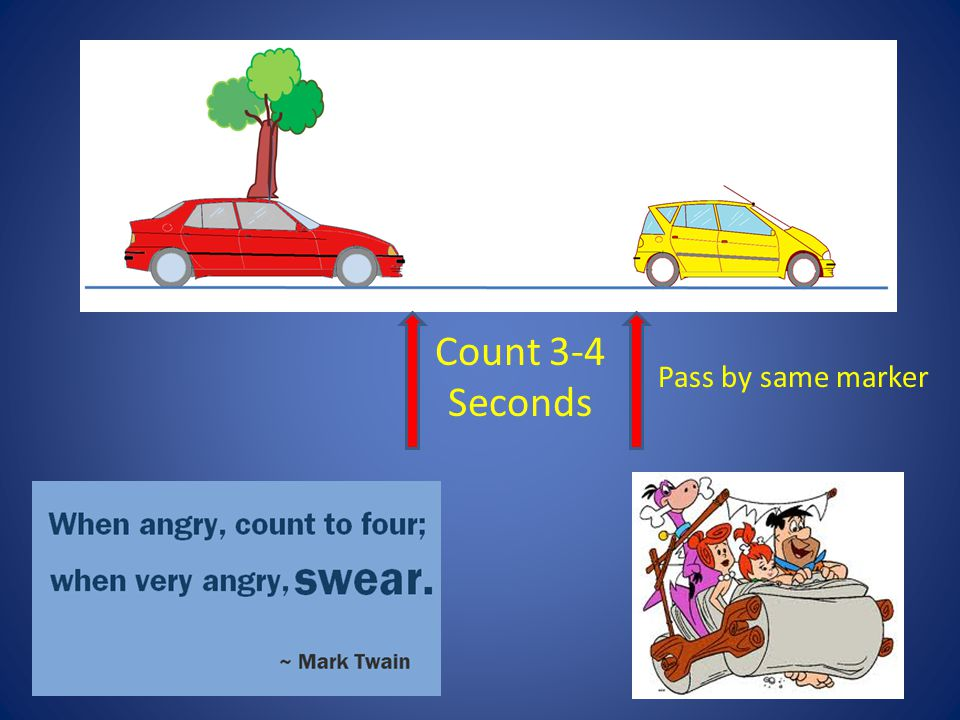 Count 3-4 Seconds Pass by same marker