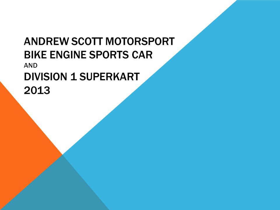 ANDREW SCOTT MOTORSPORT A chassis manufactured by Adr is going to be used for the 2013 series : - 750 motor club bike engine sports car championship-