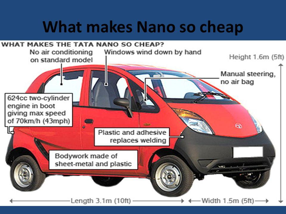What makes Nano so cheap