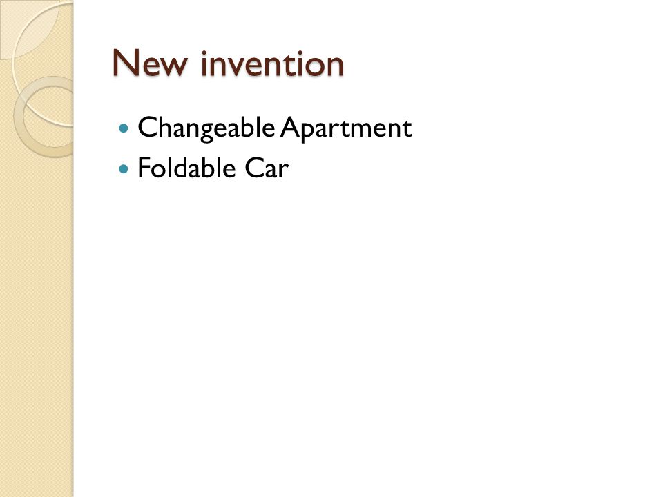 New invention Changeable Apartment Foldable Car