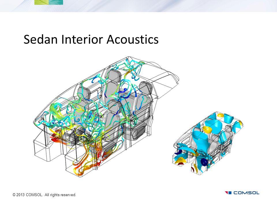 Sedan Interior Acoustics © 2013 COMSOL. All rights reserved.