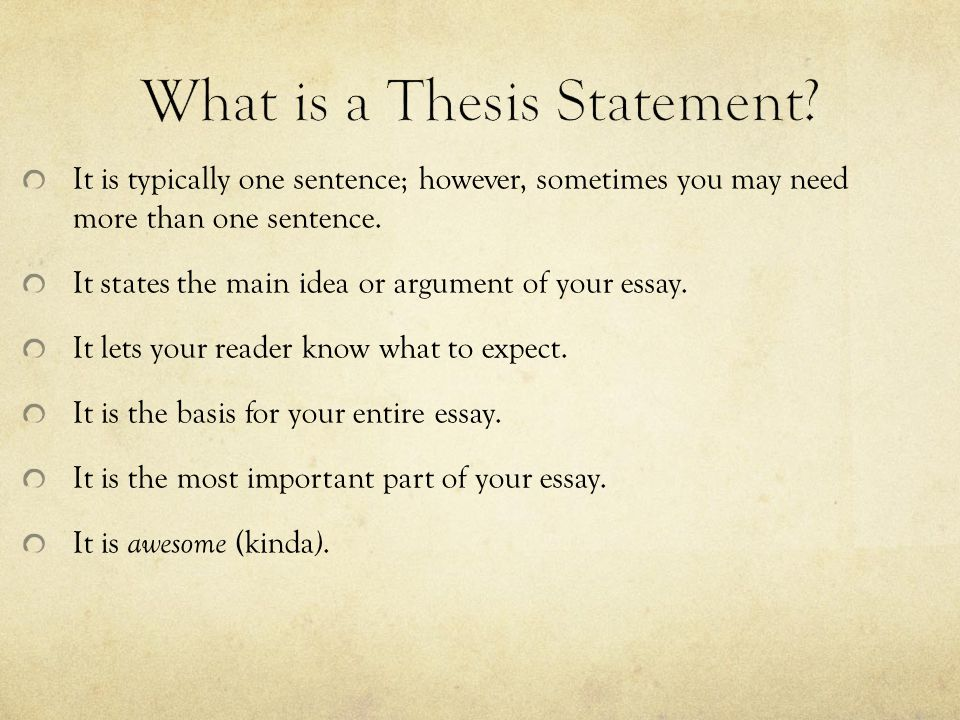 What does a thesis statement do.A thesis statement… provides the point you want to prove.