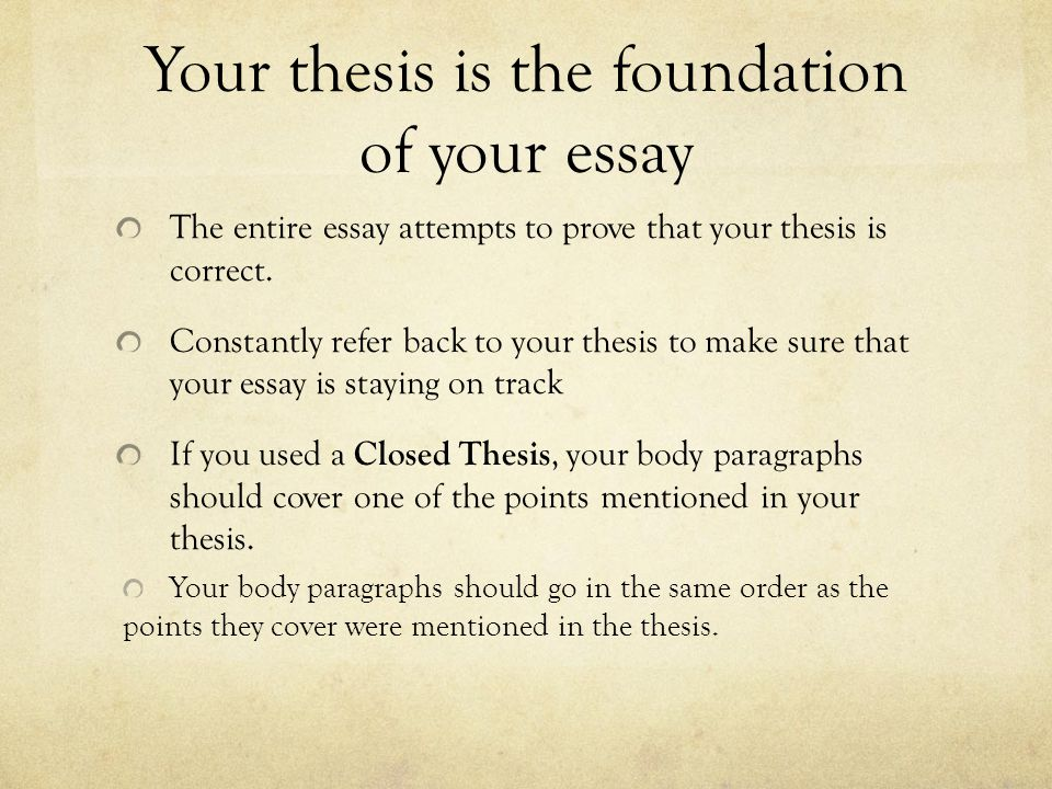 How do I write a thesis statement?