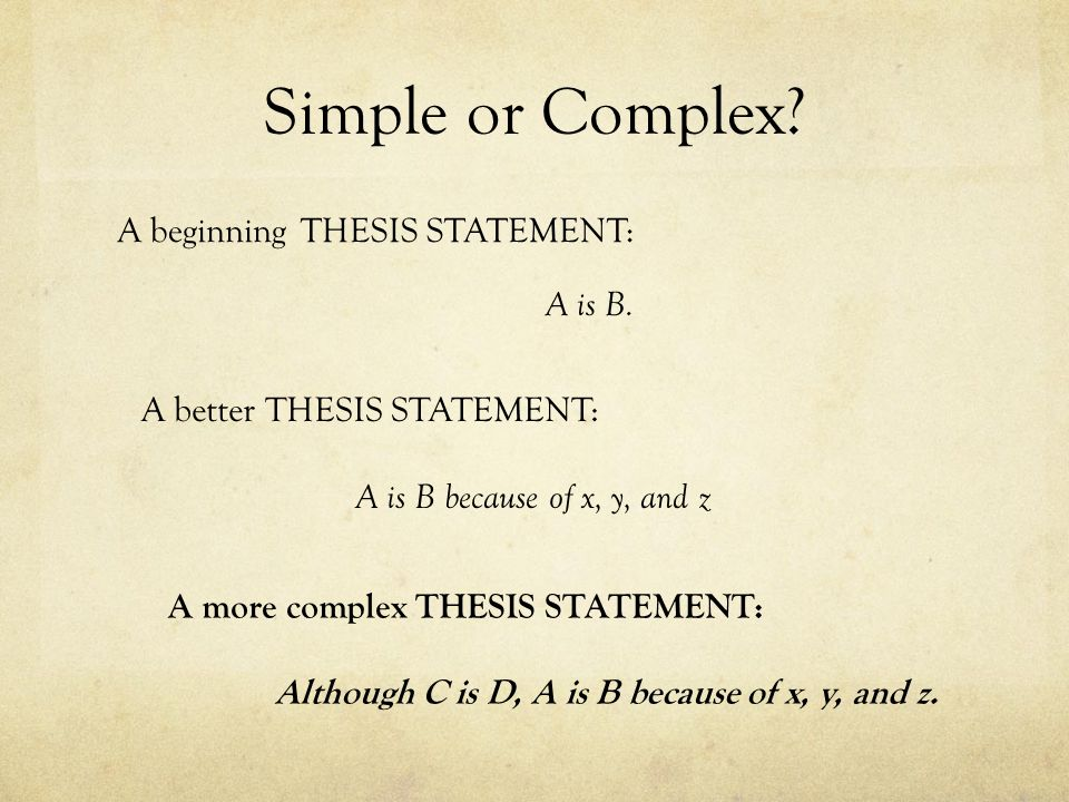 Thesis Formula Although, ________ because _,_____________ and _______________________.