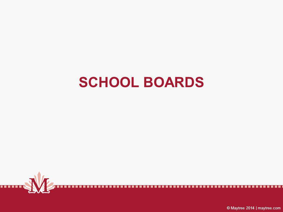© Maytree 2014 | maytree.com SCHOOL BOARDS