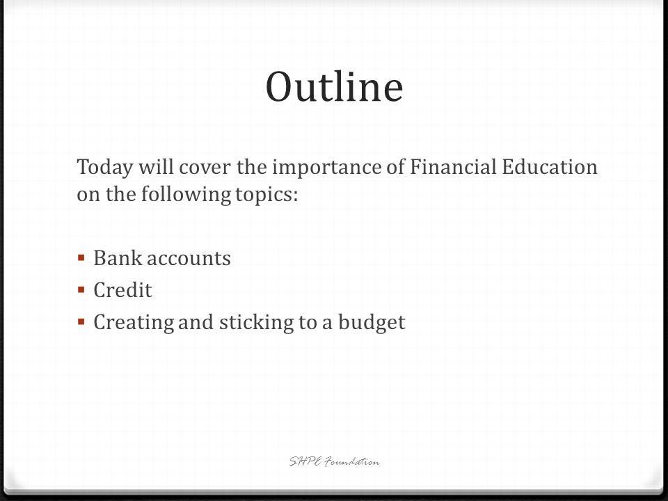 Bank Accounts SHPE Foundation
