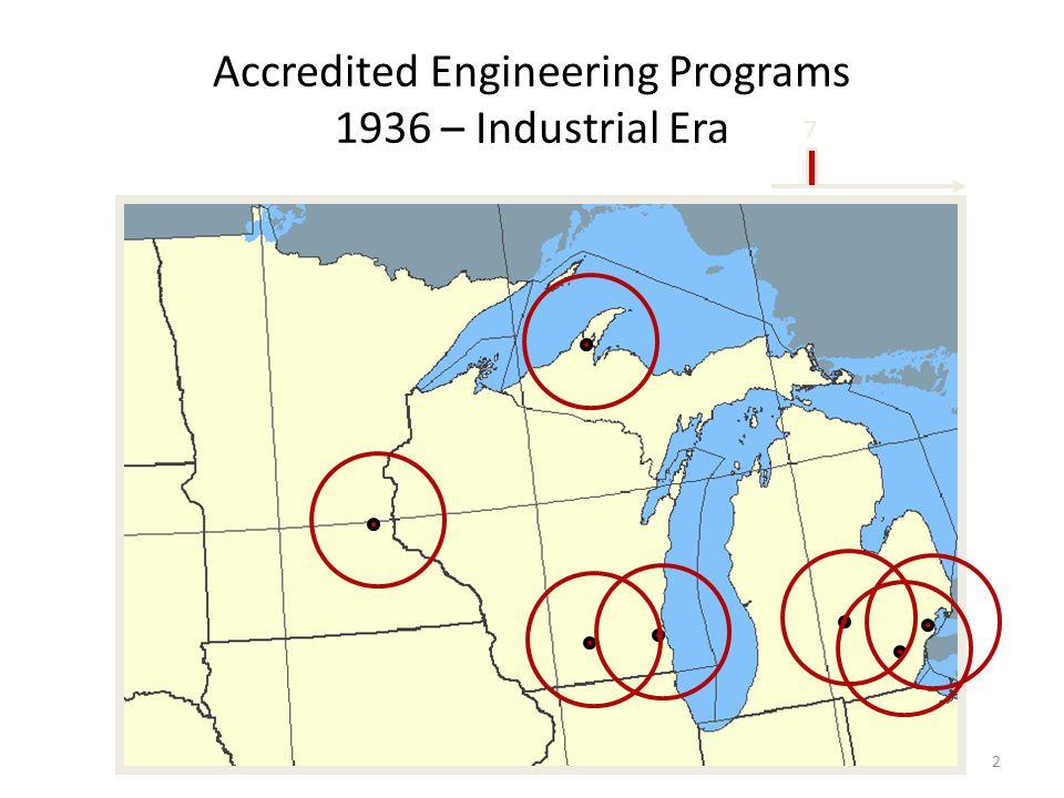 Accredited Engineering Programs 1936 – Industrial Era 2 7
