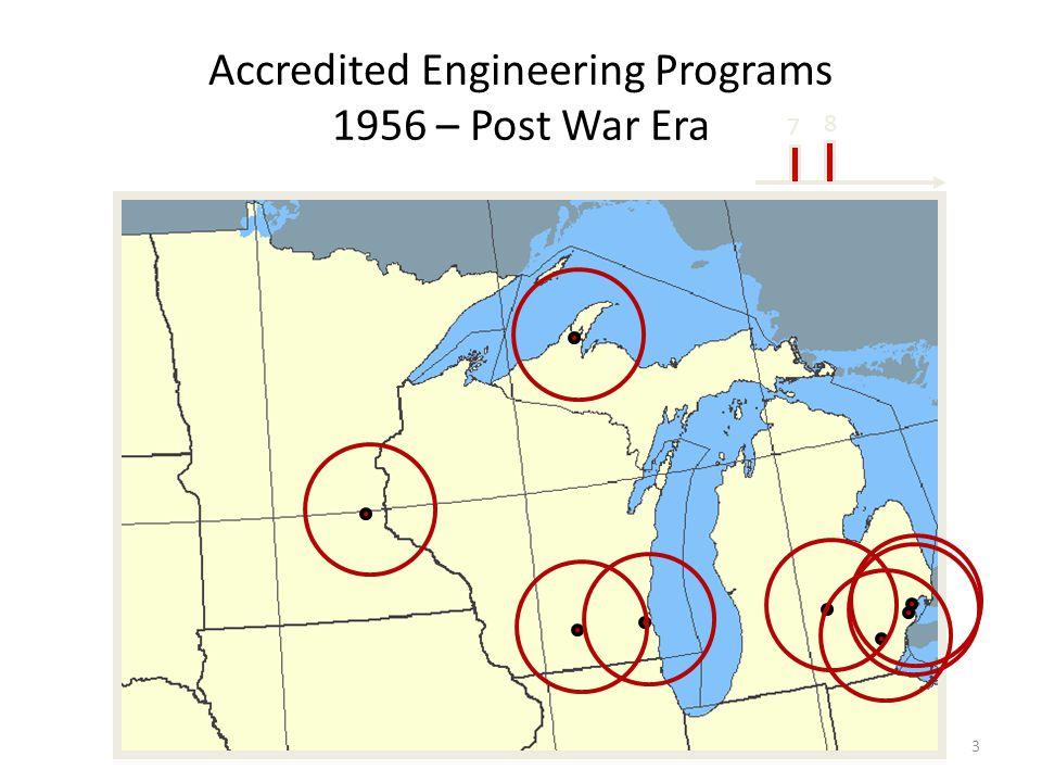 Accredited Engineering Programs 1956 – Post War Era 3 8 7