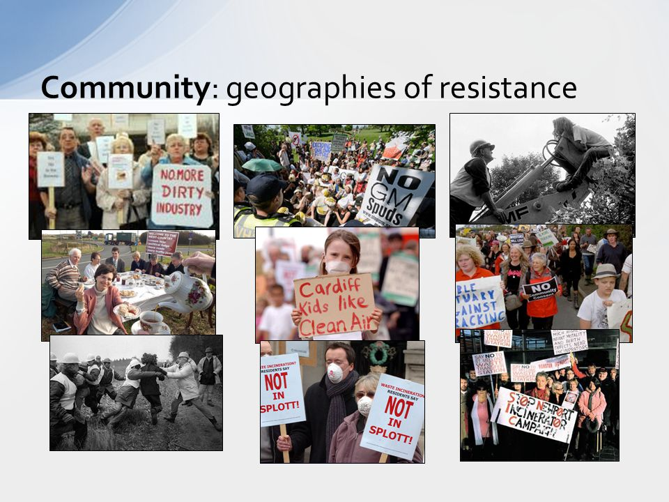Community: geographies of resistance