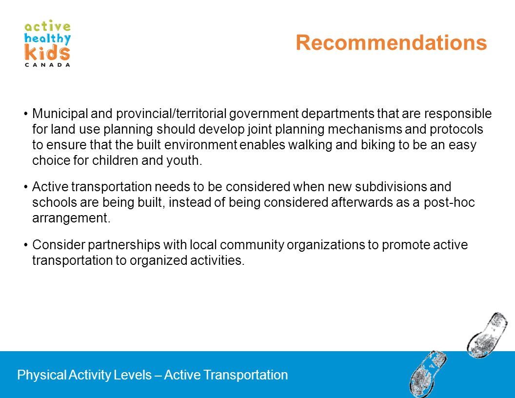 Municipal and provincial/territorial government departments that are responsible for land use planning should develop joint planning mechanisms and pr