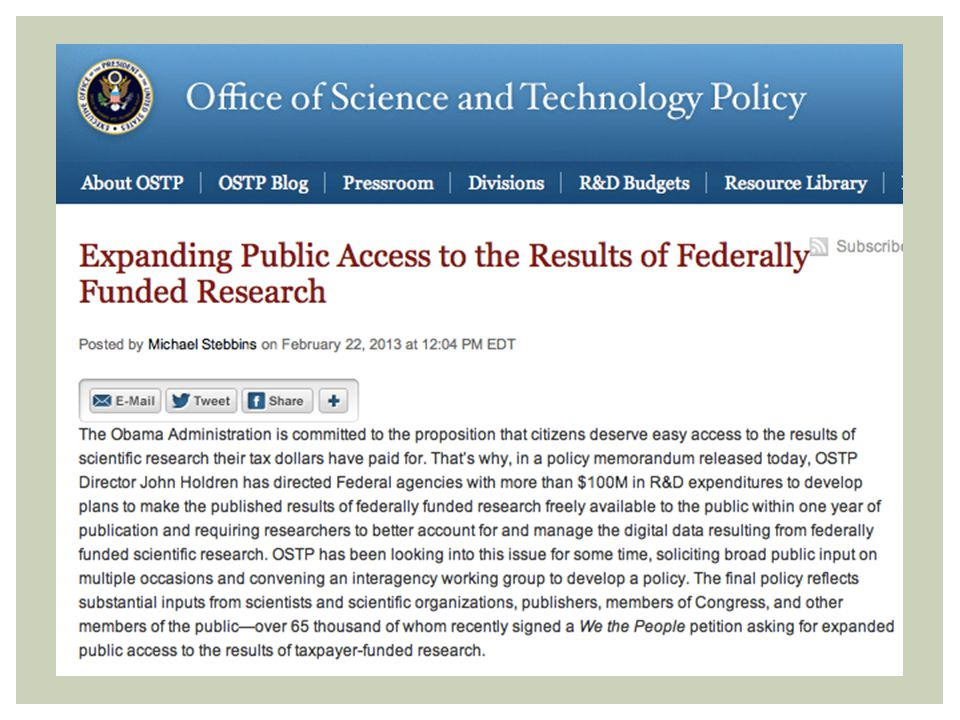 OSTP POLICY
