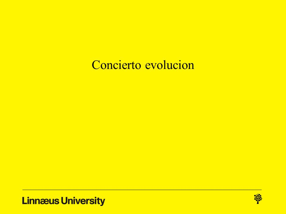 Concierto evolucion