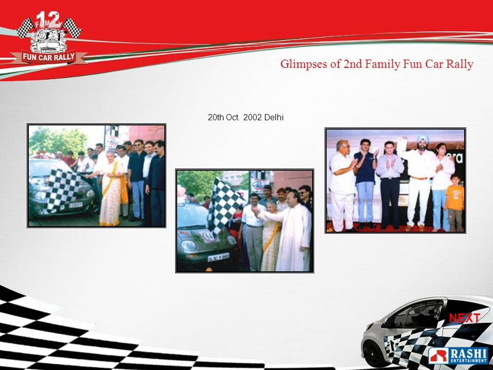 20th Oct Delhi Glimpses of 2nd Family Fun Car Rally NEXT