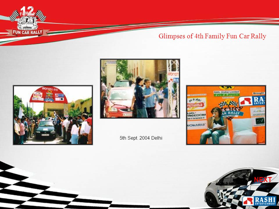 5th Sept Delhi Glimpses of 4th Family Fun Car Rally NEXT