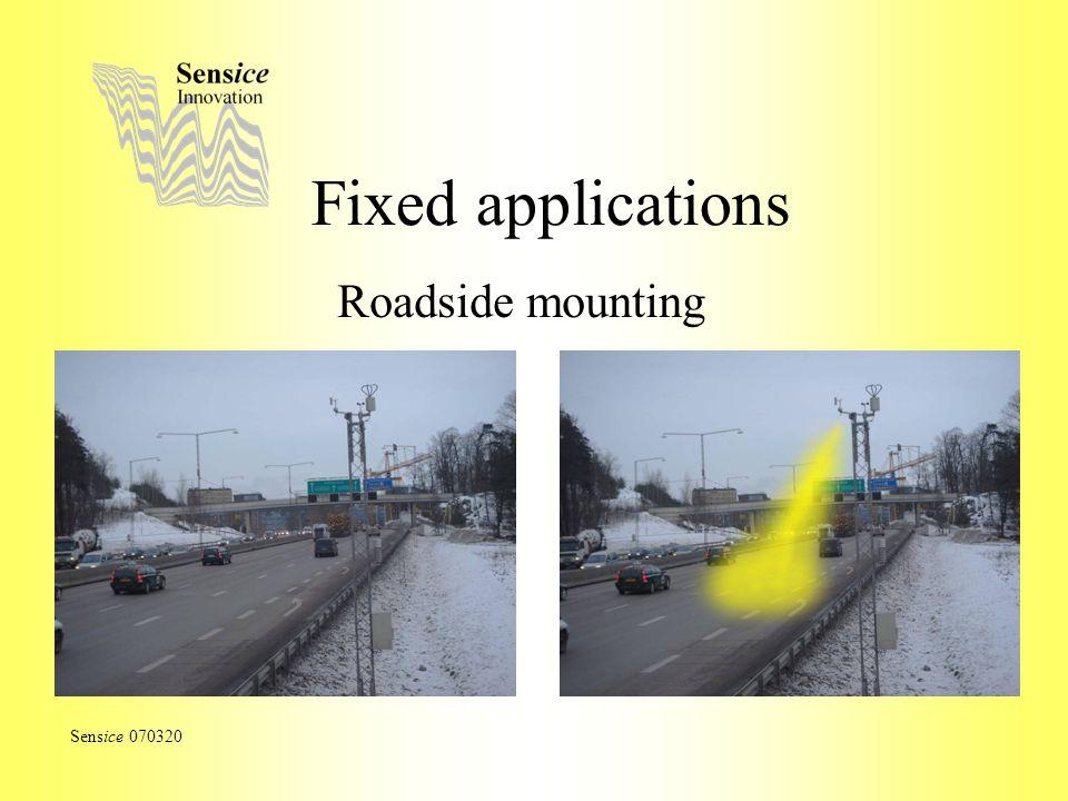Fixed applications Roadside mounting Sensice 070320