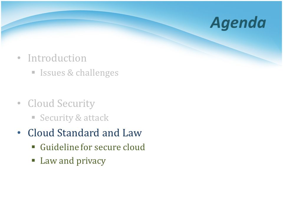 Cloud Standard and Law