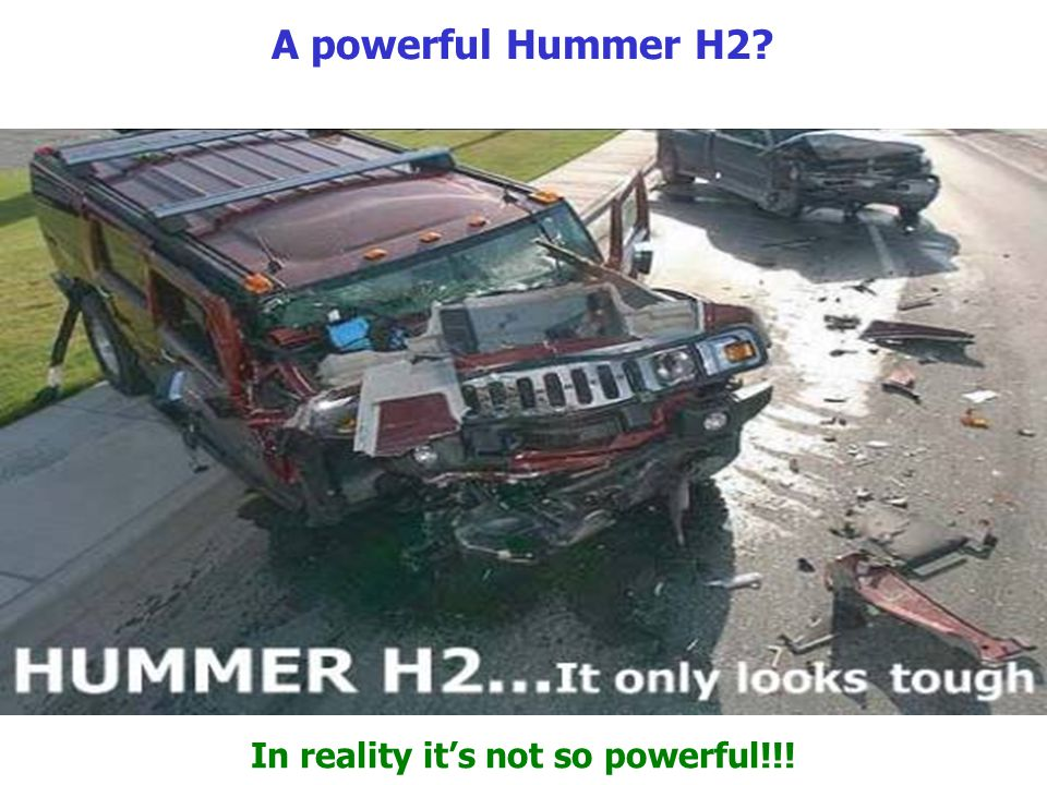 A powerful Hummer H2 In reality its not so powerful!!!