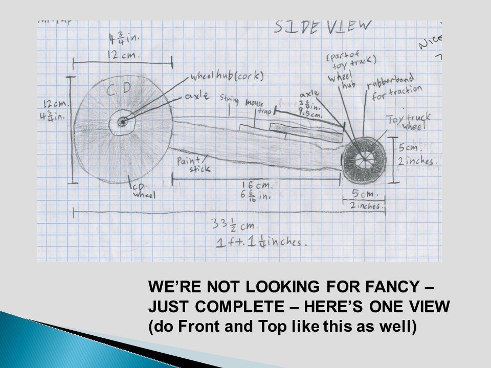 WERE NOT LOOKING FOR FANCY – JUST COMPLETE – HERES ONE VIEW (do Front and Top like this as well)