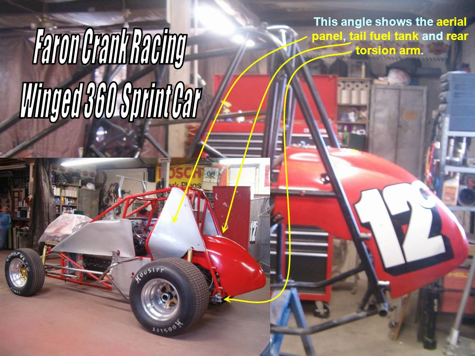 This view from the left side with all of the body panels in place show how tight things are around the driver.