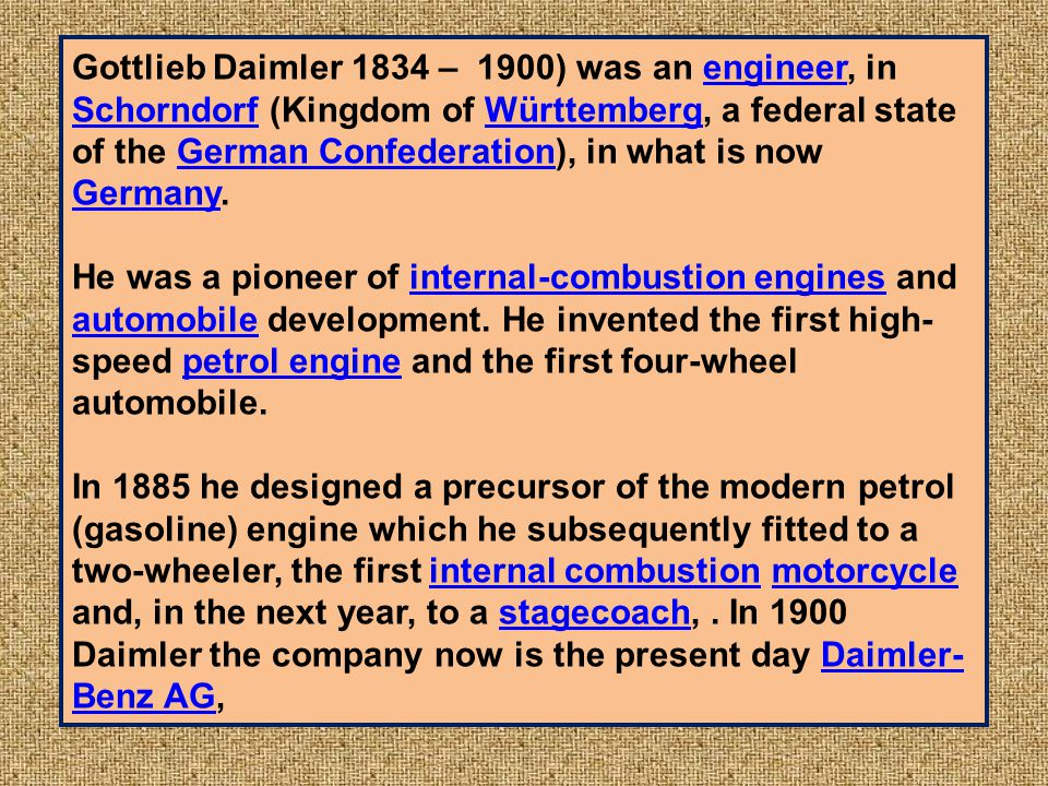 PEUGEOT 1892 FRENCH Used t he Daimler internal combustion engine