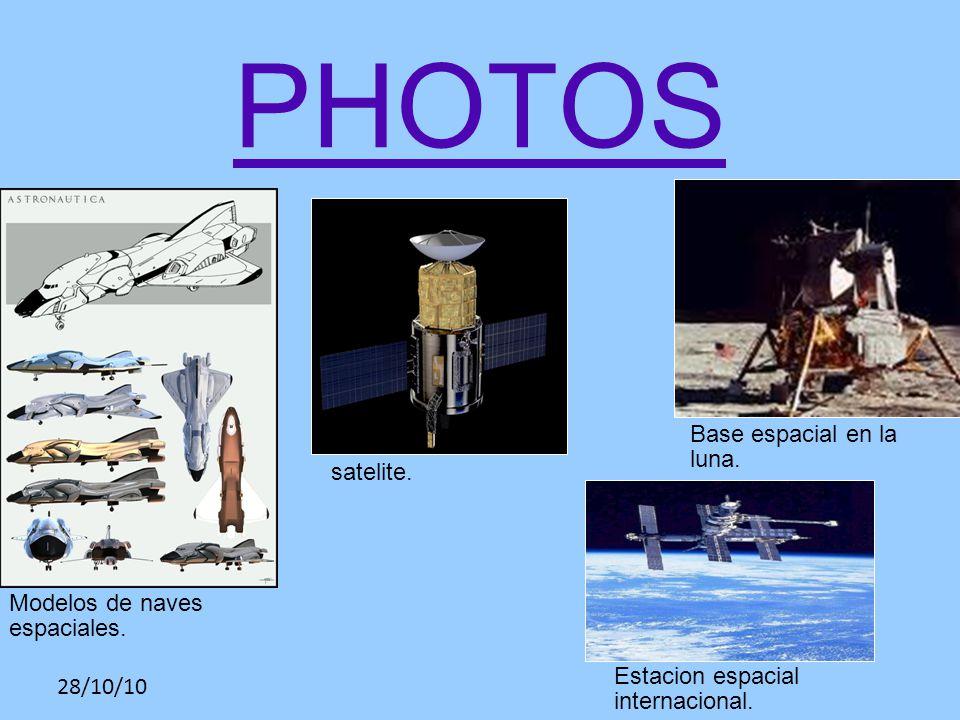28/10/10 PHOTOS Modelos de naves espaciales. satelite.