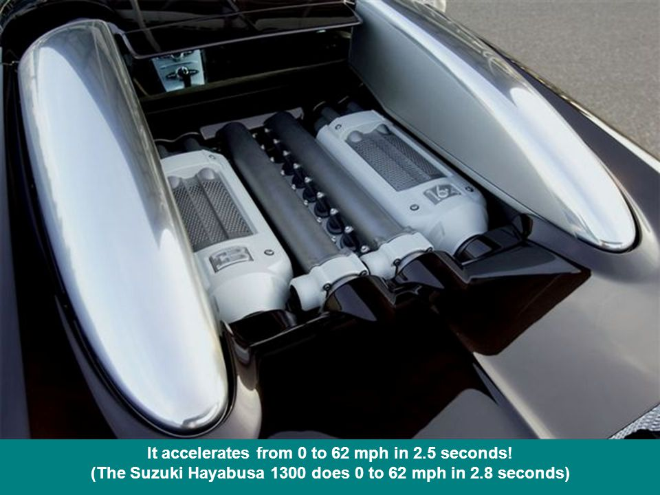 It accelerates from 0 to 62 mph in 2.5 seconds.