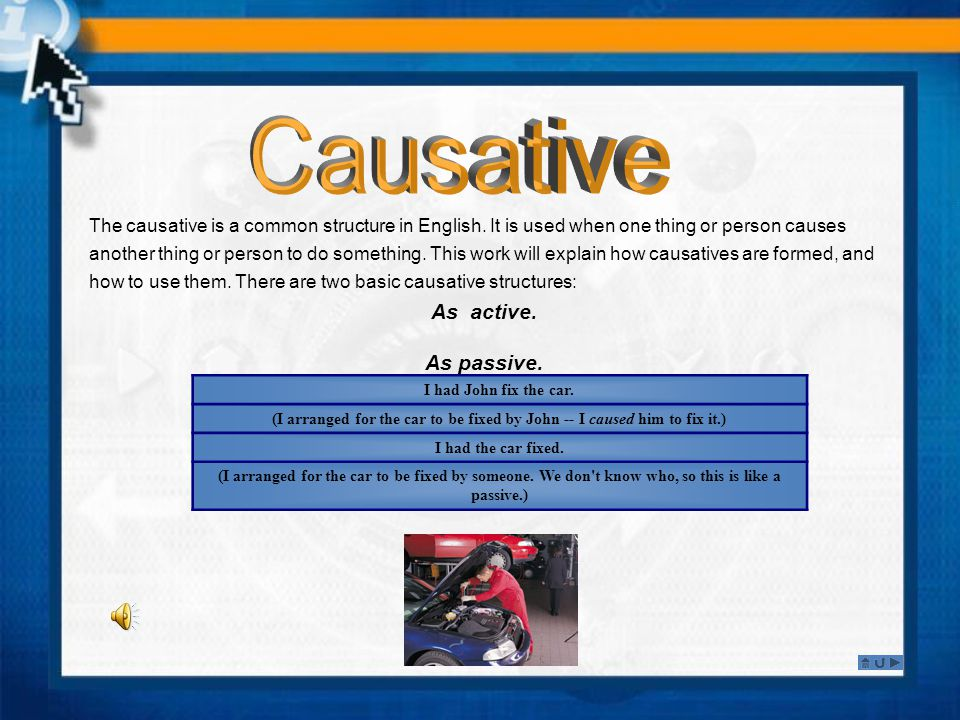 Active Causative Structures.