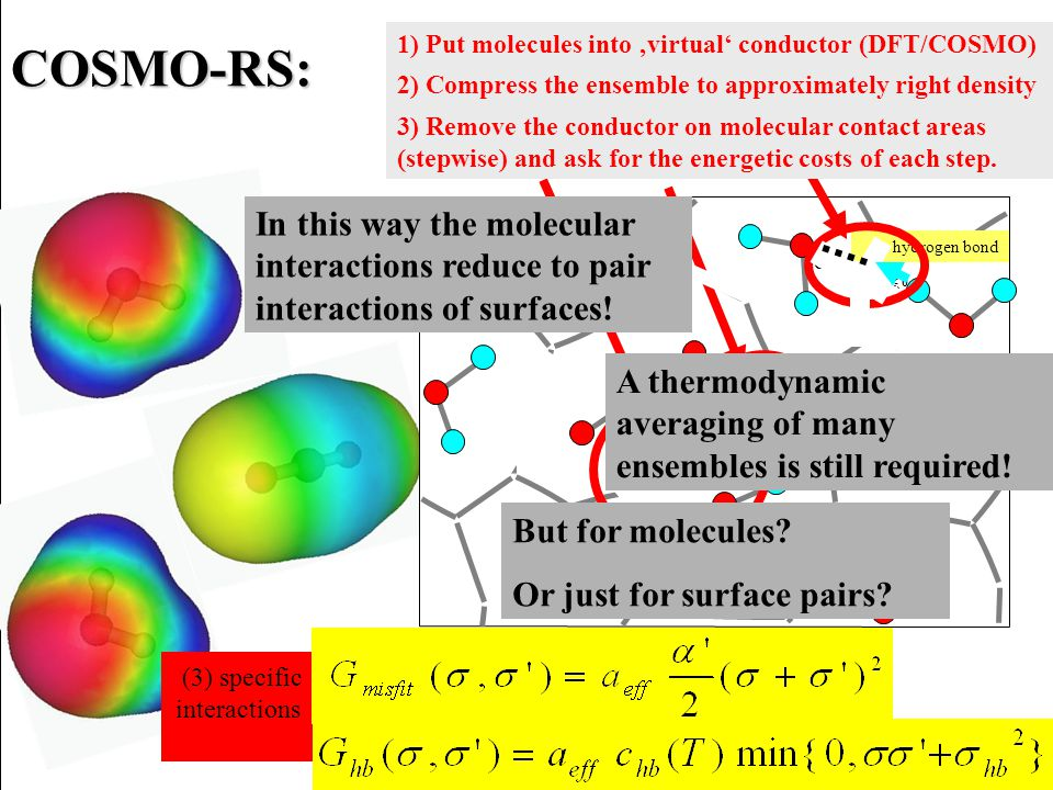 gas phase latitudes of solvation water alkanes horizon of COSMO-RS horizon of gas- phase methods solid state bridge of symmetry Glossary of COSMOxxx Terminology QM/MM Carr-Parrinello Quantum Chemistry with dielectric solvation models like COSMO or PCM MD / MC simulations native home of computational chemistry -OH -OCH3 -C(=O)H -CarH -Car Group contribution methods UNIFAC, ASOG, CLOGP, LOGKOW, etc.