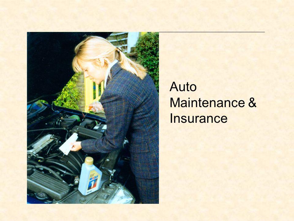 Auto Maintenance & Insurance