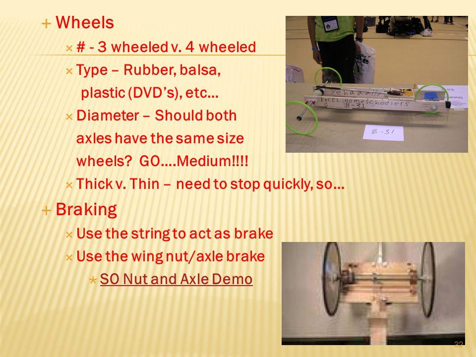 Wheels # - 3 wheeled v.