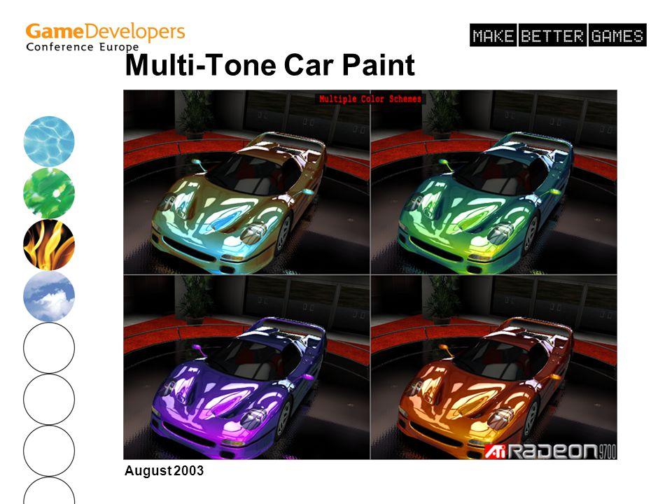 August 2003 Multi-Tone Car Paint