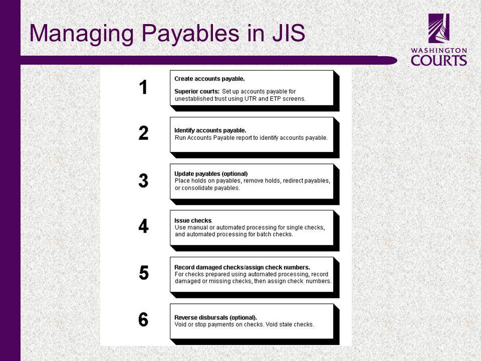 c Managing Payables in JIS