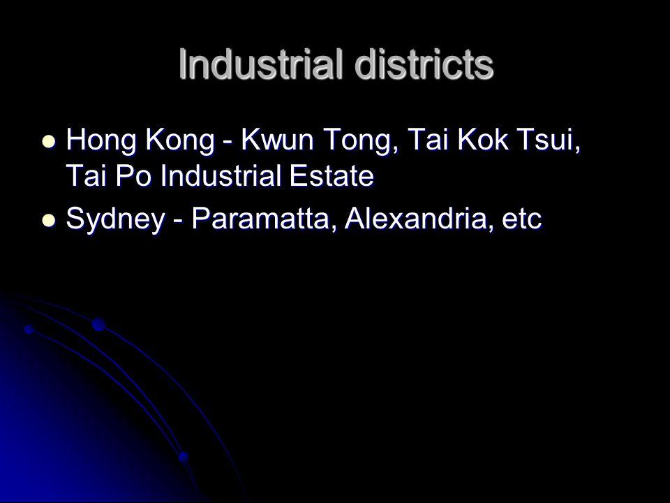 Industrial districts Hong Kong - Kwun Tong, Tai Kok Tsui, Tai Po Industrial Estate Hong Kong - Kwun Tong, Tai Kok Tsui, Tai Po Industrial Estate Sydne