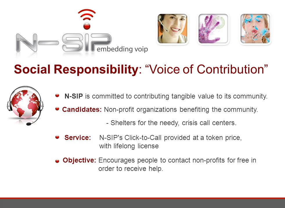 Social Responsibility: Voice of Contribution N-SIP is committed to contributing tangible value to its community.