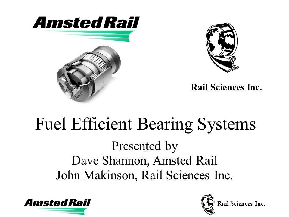 Rail Sciences Inc. Typical Bearing Data